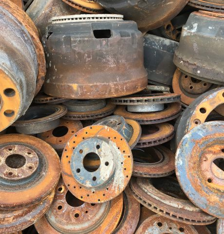 Brake drums, rotors, intakes, heads, stripped engine blocks free of Aluminum and all other attachments. Must be under 2 feet in all directions.