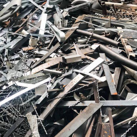 The steel waste,metal pile,stainless steel rubbish,metal garbage,prepare for recycle and reused